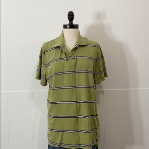 Sonoma Green Striped Polo